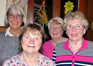 Die neu gewählte Seealemannen-Vorstandschaft der Muettersproch-Gsellschaft (von links nach rechts: Beate Neef-Beck, Heidi Wieland, Claudia Reimann, Elfriede Hetka).